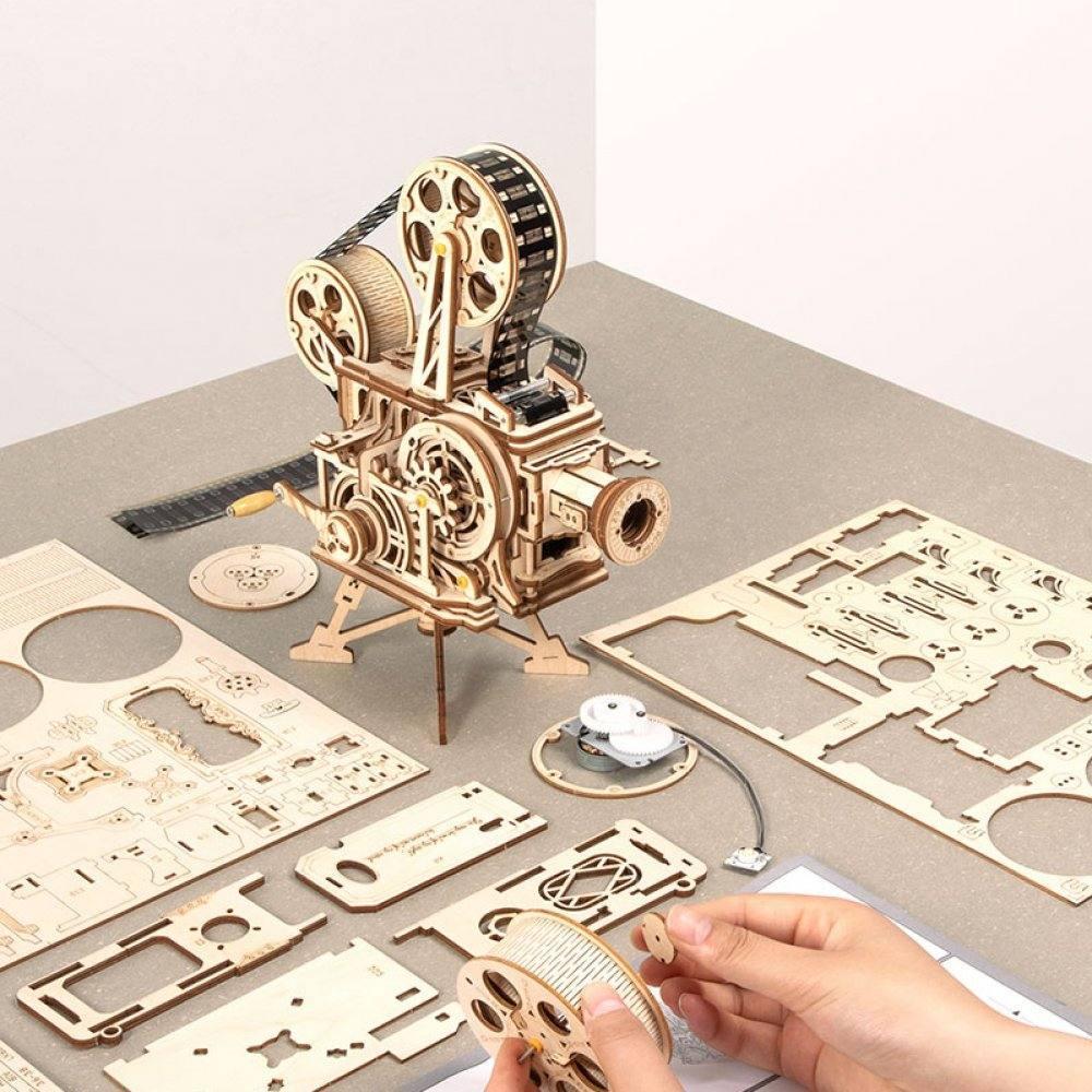 DIY Film Projector/Vitascope Mechanical Wooden Model Kit ...